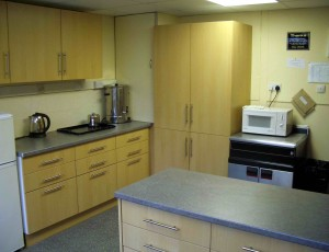 The new kitchen in Broughton Gifford Village Hall
