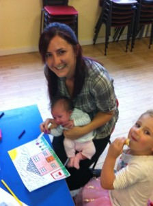 Baby and toddler at Broughton Gifford 0 to 4 club