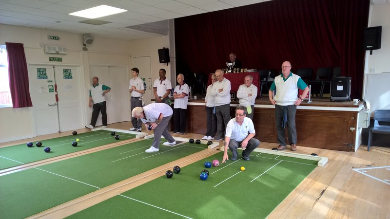Short mat bowls at Broughton Gifford village hall