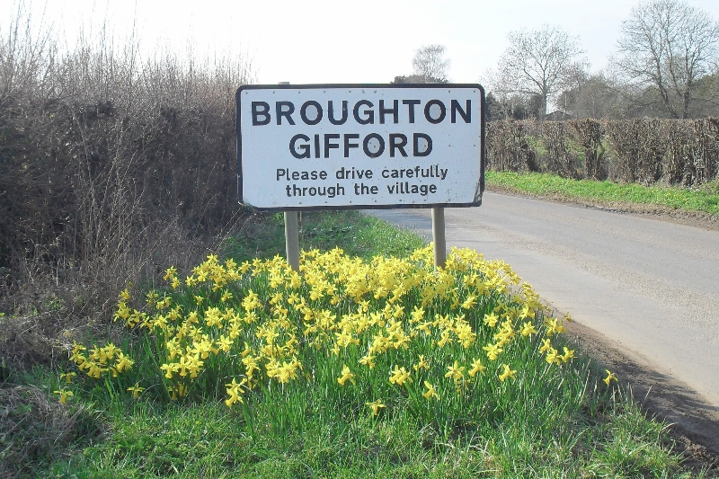 Broughton Gifford sign