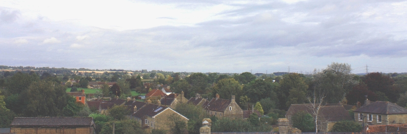 Roof tops in Broughton Gifford