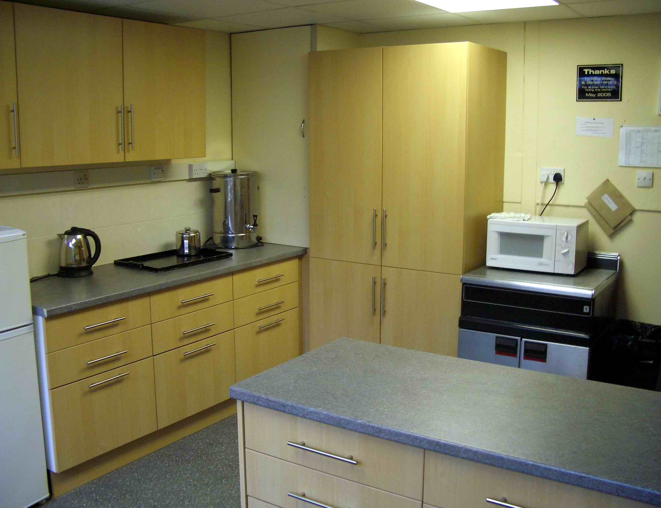 The new kitchen has been fitted