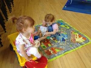 Children playing at Broughton Gifford toddler group